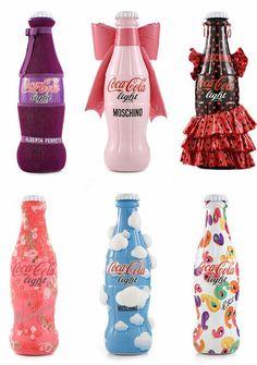 Funny creative Coca Cola bottles design packaging