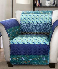 Another great find on #zulily! Peacock Diana Armchair Protector #zulilyfinds