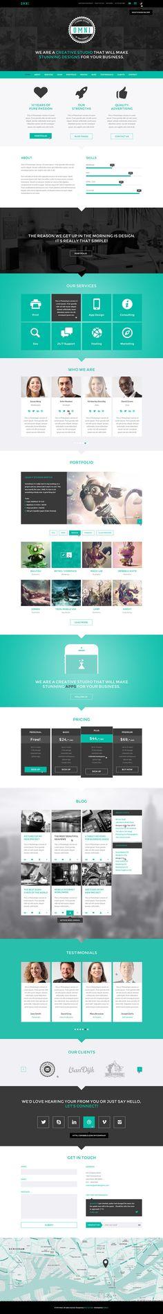 Omni - Responsive One / Multi Page HTML5 Parallax by ibrahim ekinci, via @Behance