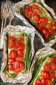 Pakketjes van Pesto Zalm en Italiaanse groente   Personal Training, Group training, Massages, Yoga en Reizen