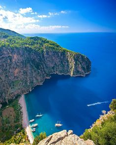 Know more about natural reserve Butterfly Valley Fethiye Turkey - one of the most attractive places and beach in the surroundings of Oludeniz Fethiye Turkey. Turkey Vacation, Turkey Travel, Travel Around The World, Around The Worlds, Am Meer, Travel And Leisure, Cool Places To Visit, Travel Pictures, Strand
