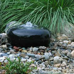 smooth stone water feature