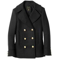 Pre-owned Balmain X H&m Pea Coat