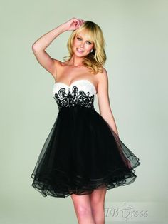 Pretty Strapless Neckline Mini-Length Zipper-up Dresses
