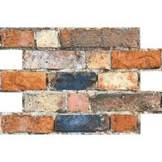 Rustic Mix Brick Slip Effect Tiles from Walls and Floors