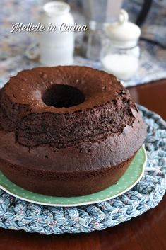 Torta Chiffon, Sweet Recipes, Cake Recipes, Wax Tarts, Cupcakes, Sweet Breakfast, Something Sweet, Chocolate Cookies, Cakes And More