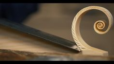 Expert Woodworker Skillfully Carves Beautiful Fibonacci Spirals With a Razor-Sharp Hand Chisel