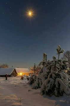 Winter Night, Winter Time, Winter Photography, Landscape Photography, Snow Cabin, Winter Wallpaper, Winter's Tale, Winter Photos, Winter Beauty
