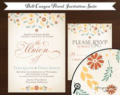 Bell Canyon Floral invitation by Compass Rose Studio
