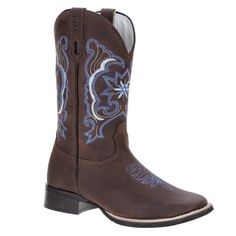 632bc841972 Bota Masculina Bico Quadrado Western Cano Longo Couro Marrom - Via Boots  18943 - Rodeo West