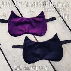 Velvet cat-shaped #Sleeping #Mask R100 available at the cabin, they are my favourite design hand made with love by a client from the cabin www.namaste.co.za #NamasteProducts #NamasteCabin Namaste, Velvet, Eye Masks, Cabin, My Favorite Things, Sleep, Shopping, Beauty, Design