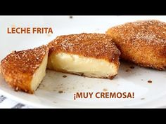 Very creamy fried milk. A rich and easy-to-make dessert - Spanish dessert 500 ml of milk g tbsp) of flour 75 g tbsp) of sugar 2 buds 1 cinnamon stick skin of 1 lemon To batter: eggs flour sugar cinnamon Desserts Espagnols, Easy To Make Desserts, Delicious Desserts, Milk Recipes, Gourmet Recipes, Cooking Recipes, Dessert Party, Fried Milk, Beignets