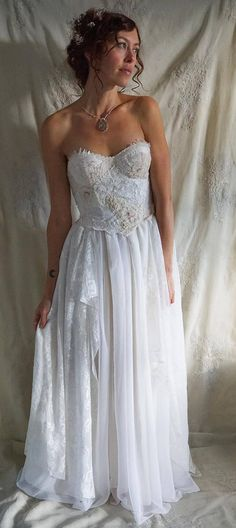 Moon Flower Wedding Gown by Fable Dresses