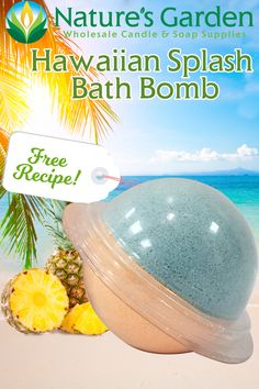 Free Hawaiian Splash Bath Bomb Recipe by Natures Garden