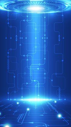Art & Line Circuit Design Wallpaper in Blue Background Blue Wallpaper Iphone, Apple Wallpaper, Blue Wallpapers, Cellphone Wallpaper, Screen Wallpaper, Cool Wallpaper, Mobile Wallpaper, Wallpaper Backgrounds, Blue Backgrounds