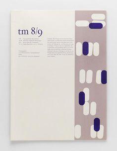TM Typographische Monatsblätter, issue 8/9, 1956. Cover designer: Guido Gilli