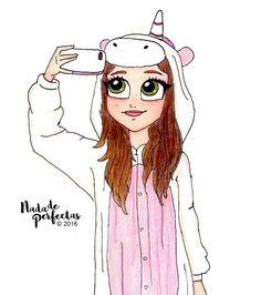 Yey! Ahora si, dibuje a @karolsevillaofc con todos sus pijamas! ❤ este es uno de mis favoritos! ❤ Espero que les guste a ustedes también!  No se olviden de enviar su dibujo, #dibujandoconmisfans...