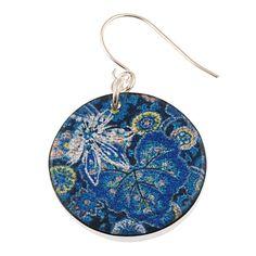 4120-61 - Blue Floral Earrings originjewelry.net