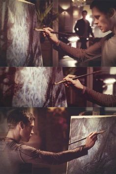 "Joseph Morgan - Klaus ""painting is a metaphore for control"" The Vampire Diaries, Vampire Dairies, Vampire Diaries The Originals, Stefan Salvatore, Joseph Morgan, Klaus And Hope, Klaus The Originals, The Salvatore Brothers, The Mikaelsons"