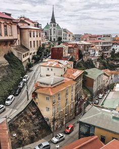 Valparaíso, Chile~ Look at the street behind the building in the forefront. It is a huge hill. Places To Travel, Places To Visit, Travel Destinations, South America Travel, Adventure Travel, Around The Worlds, Vacation, Koh Tao, Snow Forest