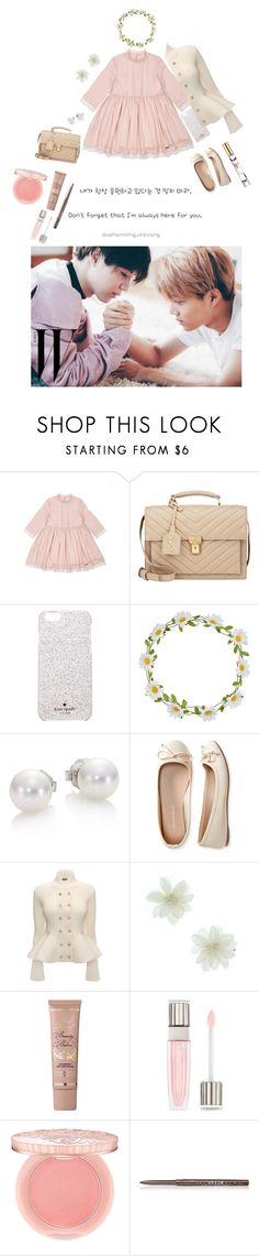 """I swear~"" by aijasn ❤ liked on Polyvore featuring Krystal, Pili Carrera, Yves Saint Laurent, Kate Spade, Carole, Mikimoto, Aéropostale, Alexander McQueen, Too Faced Cosmetics and Lancôme"