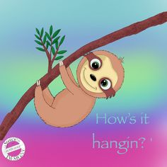 Cute sloth Cute Sloth, Pikachu, Fictional Characters, Design, Art, Art Background, Kunst, Performing Arts