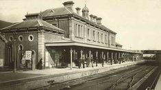 Newcastle Railway Station in the Hunter region of New South Wales in 🌹 Newcastle Town, Tasmania Hobart, Australian Road Trip, French Chateau, Historical Architecture, Historical Pictures, Old Buildings, Old Photos, Street View