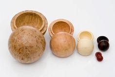 Nesting Wood Spheres by Dale Larson