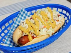 Get Katie Lee's West Virginia Style Hot Dog Recipe from Food Network