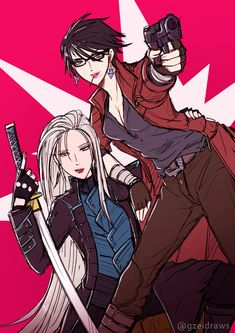 Bayonetta as Dante And Jeanne as Vergil Bayonetta, Nero Dmc, Videogames, Character Art, Character Design, Dante Devil May Cry, Anime Crossover, Video Game Characters, Video Game Art