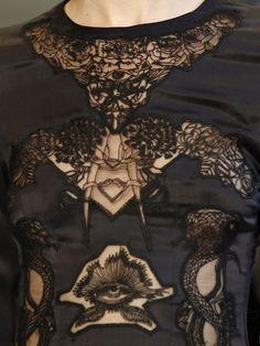Intricate black lace