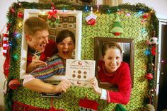 Family Ever After.: Ugly Christmas Sweater Party Recap: All the Details and Decor! Tacky Christmas Party, Christmas Photo Booth, Tacky Christmas Sweater, Ugly Sweater Party, Office Christmas, Xmas Party, Family Christmas, Holiday Fun, Christmas Holidays
