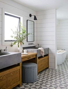 farmhouse design - Beautiful Farmhouse Bathroom Design And Decor Ideas You Will Go Crazy Rustic Master Bathroom, Modern Farmhouse Bathroom, Modern Bathroom Design, Farmhouse Design, Bathroom Designs, Rustic Farmhouse, Farmhouse Style, Masculine Bathroom, Modern Bathrooms