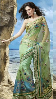 Aristocratic Net Saree with Blouse