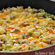 Egg, Potato and Sausage Skillet Recipe SixSistersStuff 2