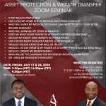 Asset Protection and Wealth Transfer Zoom Seminar Is My Wealth Protected? Can I Lose My Home Due to Missionary Baptist Church, Faith Church, Church News, Churches Of Christ, Episcopal Church, Medical Billing, Christian Church, The Covenant, Losing Me