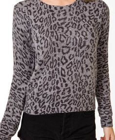Leopard Print Knit Top | FOREVER21