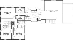 Colonial Style House Plan - 3 Beds 3 Baths 2970 Sq/Ft Plan #530-2 Floor Plan - Upper Floor Plan - Houseplans.com