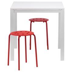 IKEA - MELLTORP / MARIUS, Tafel en 2 krukken,  ,