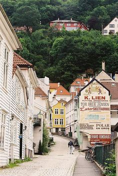 Lovely Bergen, Norway. I've been here and would love to return some day!