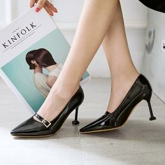 Black Elegant Wedding Party Shoes With Belt [VIVIDRESS11669] - R1098 : vividress.co.za Party Shoes, Elegant Wedding, Belt, Formal, Black, Belts, Preppy, Black People
