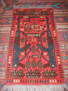 Find Best Value And Selection For Your Afghan War Rug Military Hand Made Size 115 Cm X 62 Search On Ebay World S Leading Marketplace