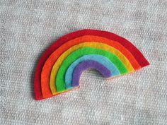 Layered Felt Rainbow Magnet | 24 Super Fun St. Patrick's Day Crafts For Kids