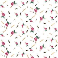 Boho Aztec Beauty Floral fabric by shopcabin on Spoonflower - custom fabric