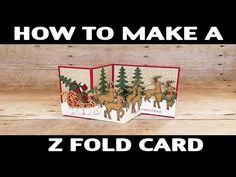 Demonstrator Jill Olsen demonstrates how you can easily create a z fold card. She will share how you fold your cardstock. It's very simple and e. Cards Diy, Z Cards, Step Cards, Stampin Up Cards, Easel Cards, Tri Fold Cards, Fancy Fold Cards, Folded Cards, Diy Christmas Cards