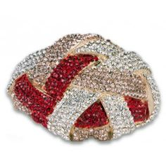 Jewelry Galore - Large Knot Bracelet in Red & Pink - $77 #jewelry #women #knot #beautiful #red #gold #fashion