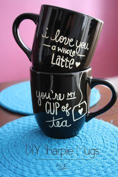 DIY Sharpie Mugs - Inspiration DIY