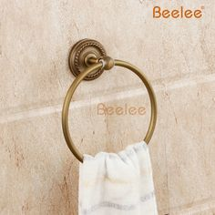 28.21$  Buy here - http://aimmc.worlditems.win/all/product.php?id=32516670962 - Beelee BL6111A  Antique fashion beelee towel ring copper vintage towel rack towel Antique Brass Carved Vine Towel Ring