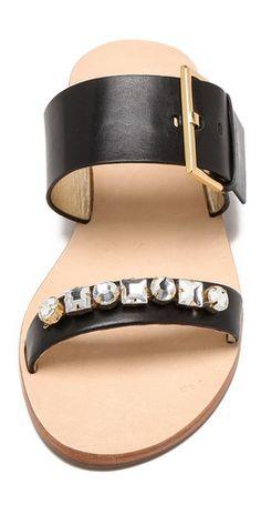 Kate Spade New York Astra Embellished Two Band Sandals   Amazon.com's SHOPBOP SAVE 25% use Code:GOBIG14