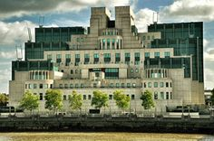Office of the British Secret Intelligence Service-SIS ( M16). Featured in several James Bond films. Vauxhall Cross, London, England